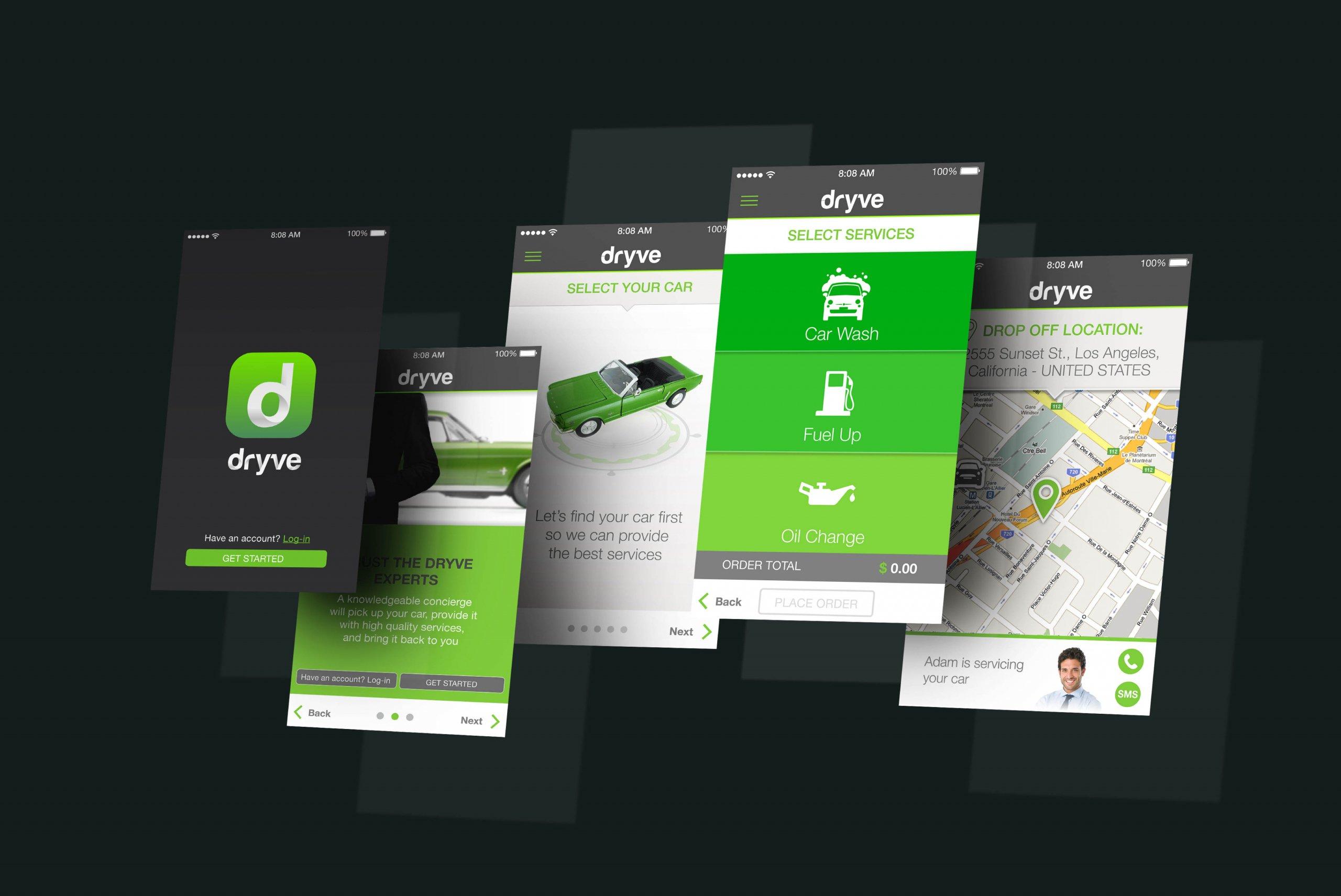 Dryve app Mockup BE Comunicazioni portfolio 00 R03