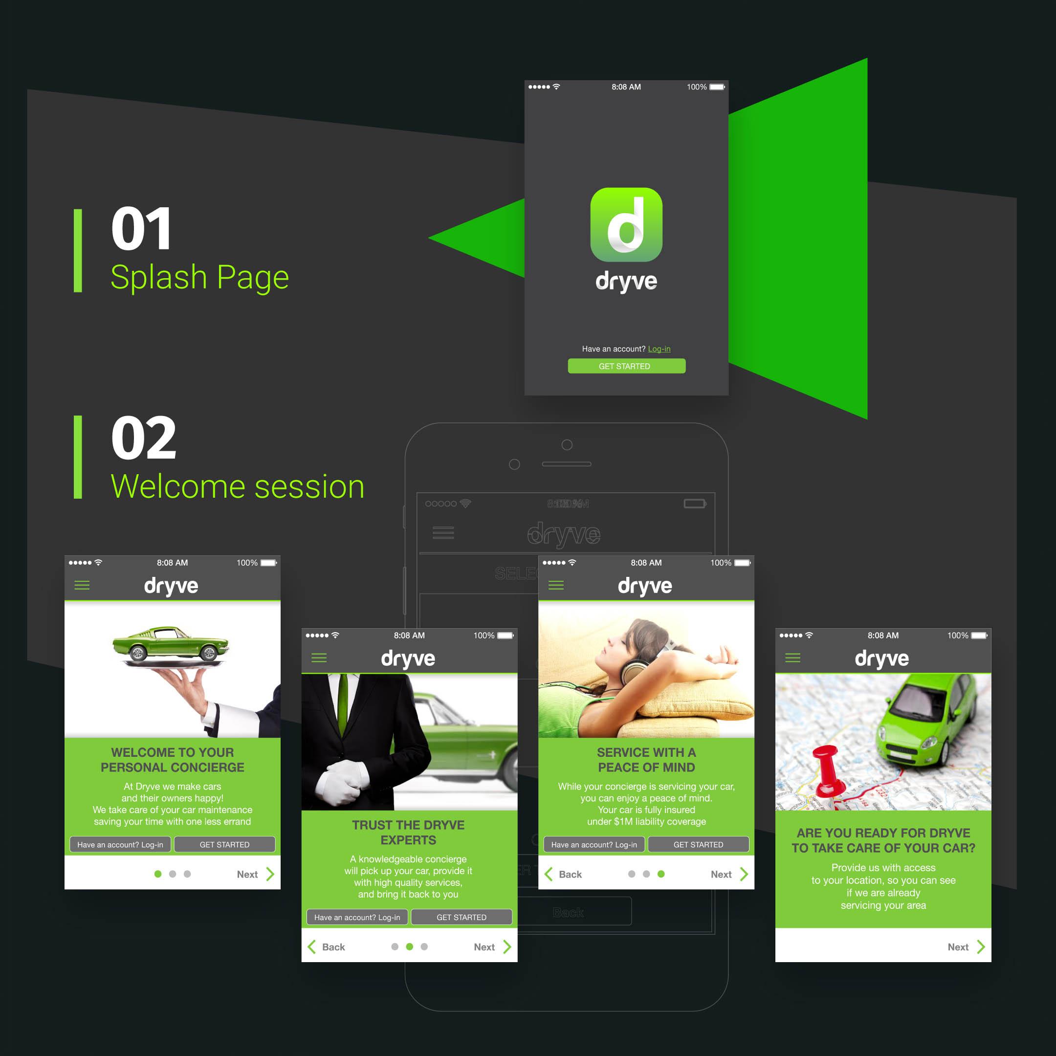 Dryve app Mockup BE Comunicazioni portfolio 02 R03