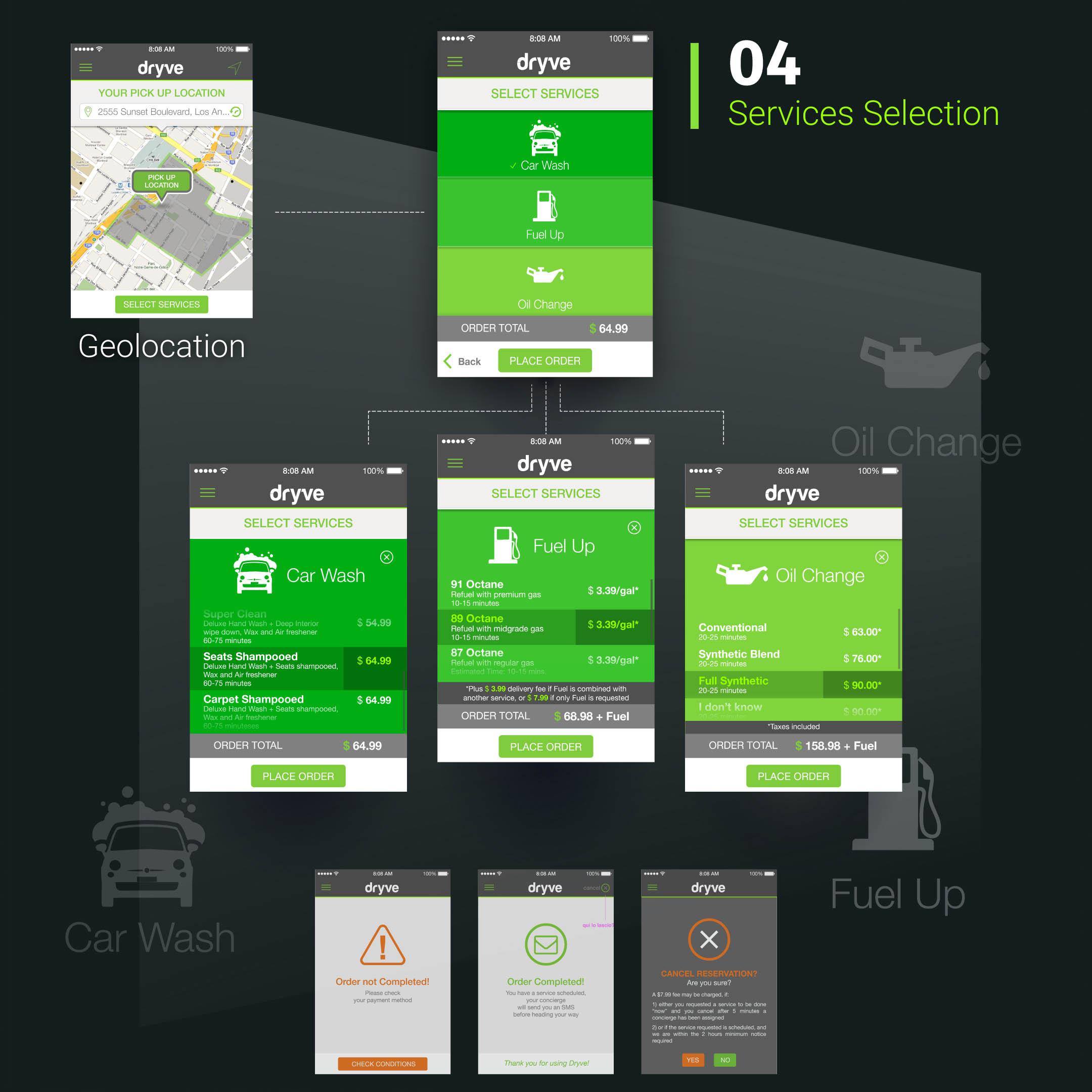Dryve app Mockup BE Comunicazioni portfolio 04 R03