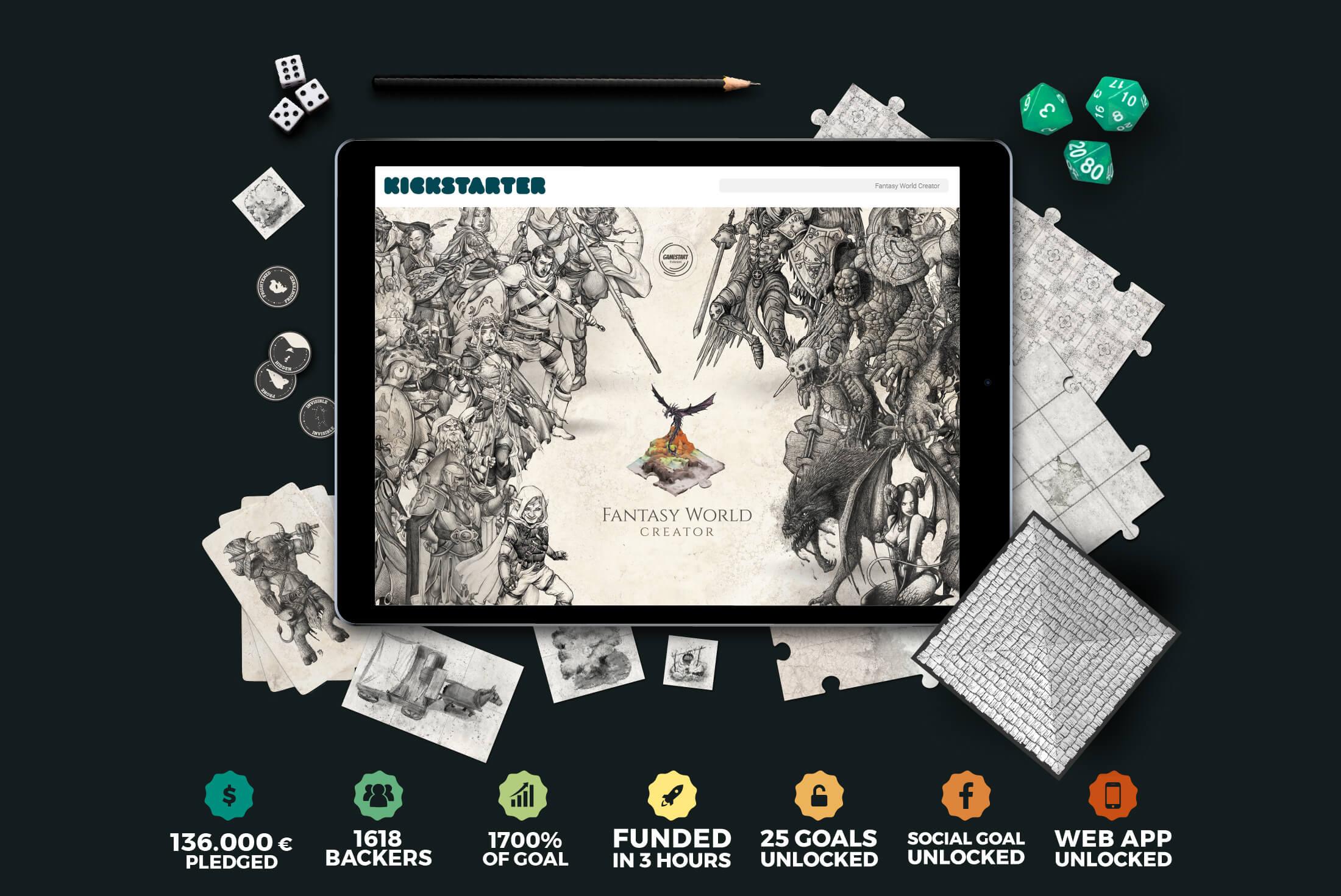 Progetto - Portfolio - Be Comunicazioni - Pubblicità e Marketing - Fantasy World Creator - Cover