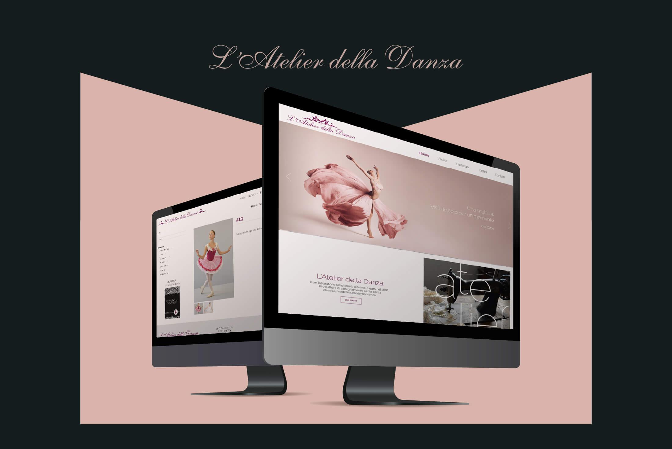 Sito web - Portfolio - Be Comunicazioni - Pubblicità e Marketing - Atelier della Danza - Cover