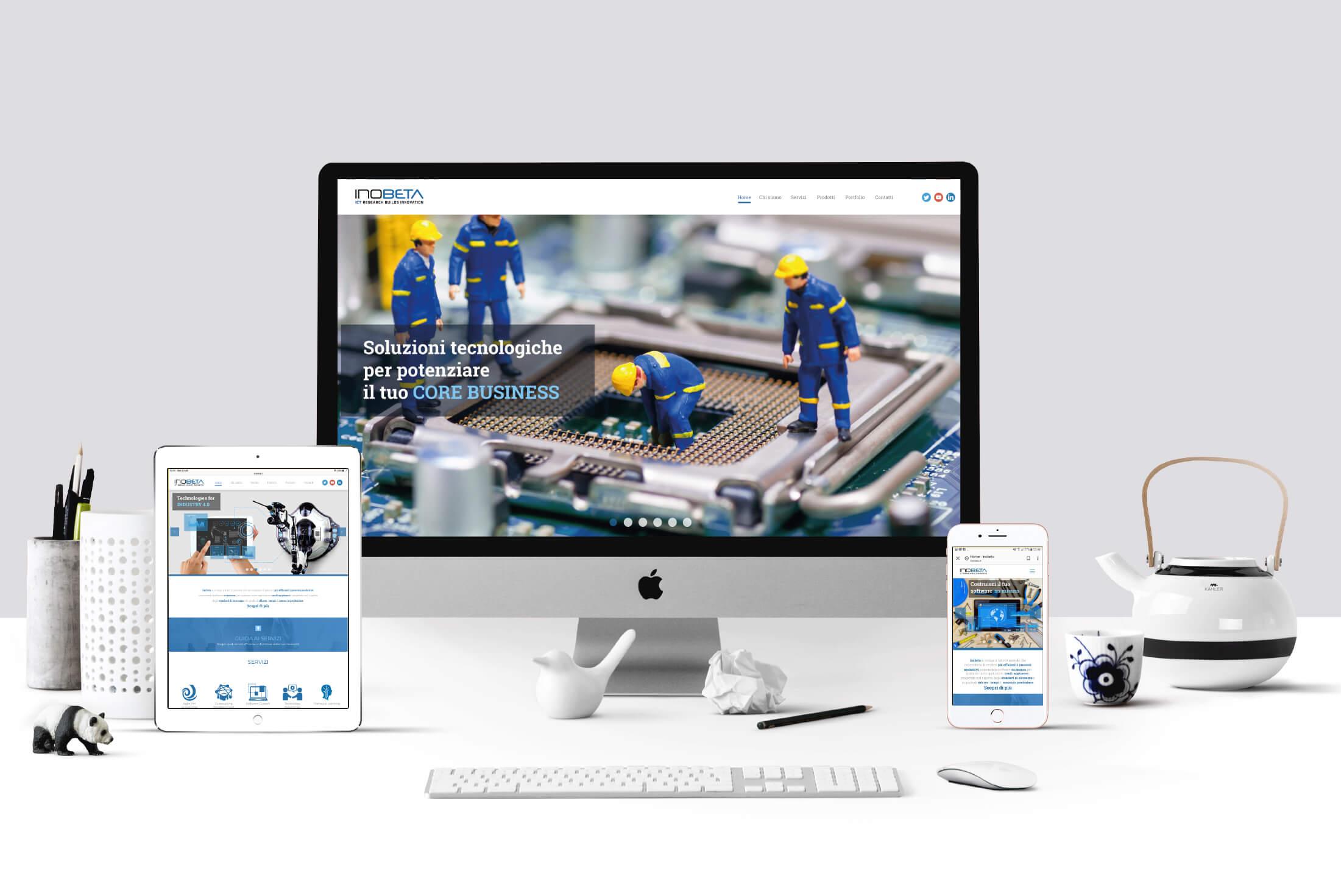Sito web - Portfolio - Be Comunicazioni - Pubblicità e Marketing - Inobeta - Cover