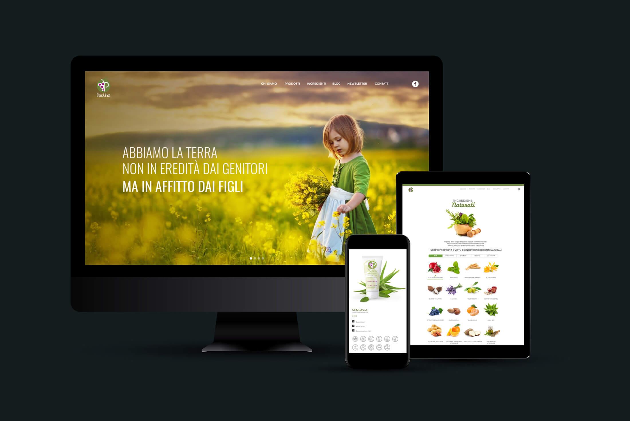 Sito web - Portfolio - Be Comunicazioni - Pubblicità e Marketing - Pauline - Cover