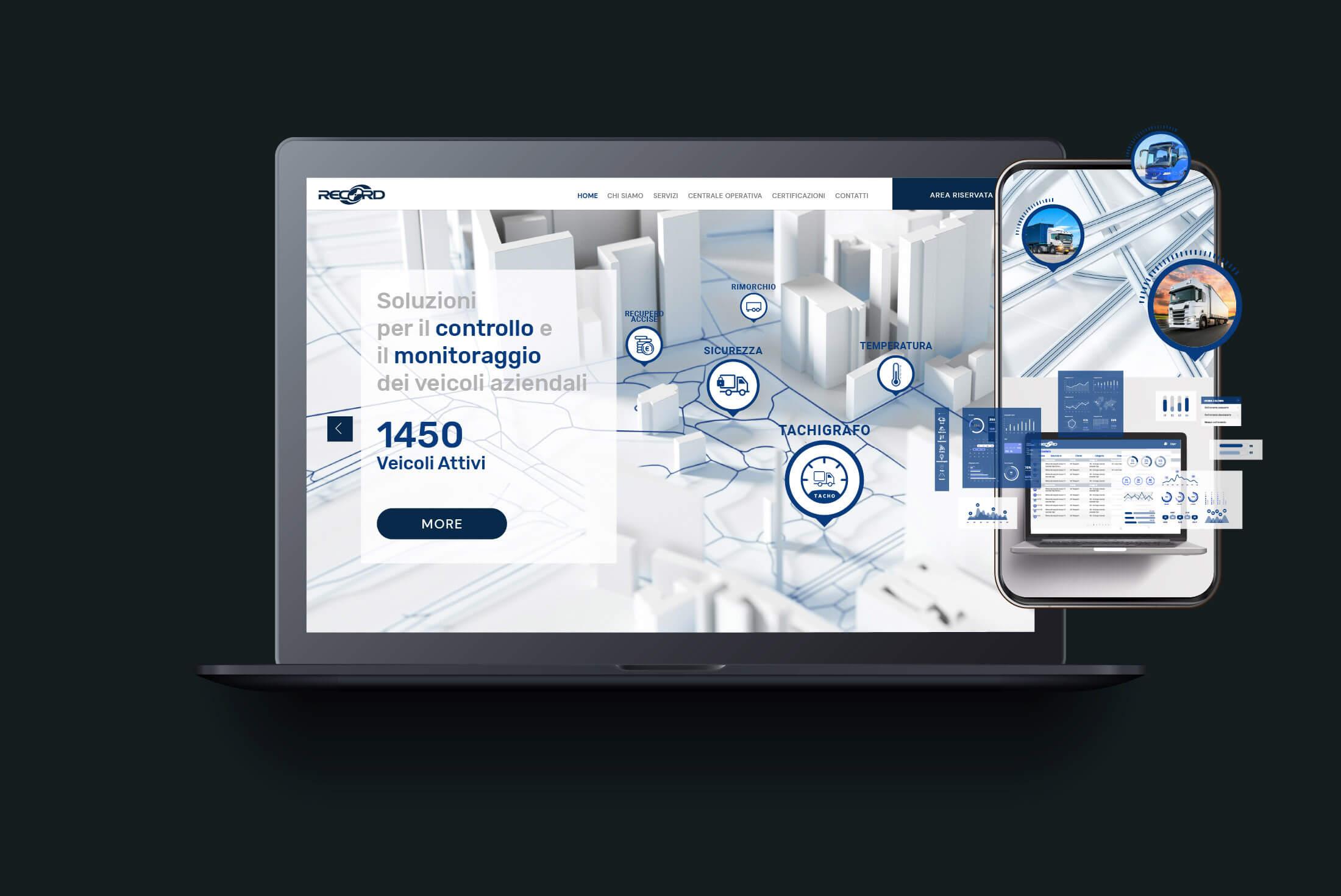 Sito web - Portfolio - Be Comunicazioni - Pubblicità e Marketing - Recorditalia - Cover