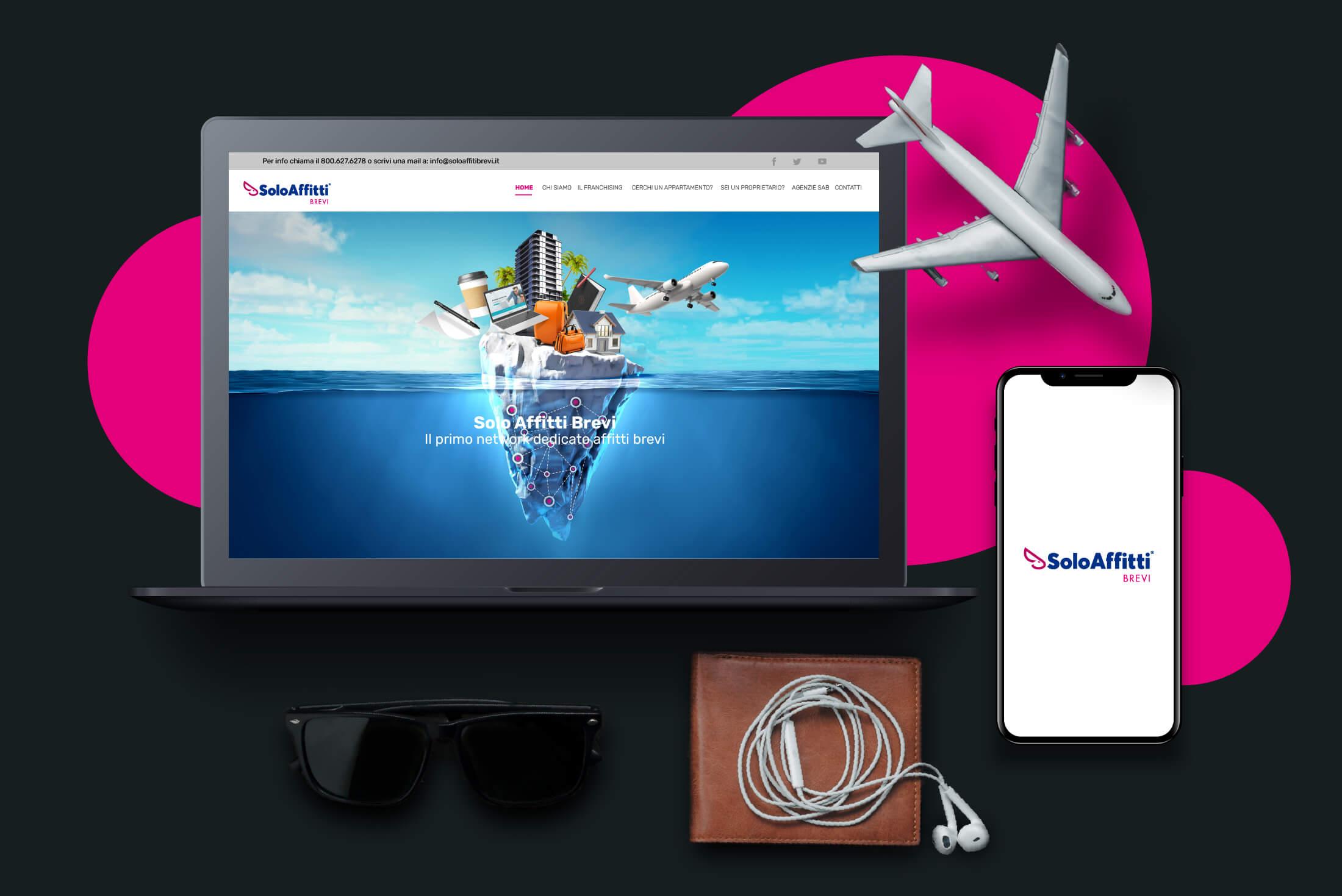 Sito web - Portfolio - Be Comunicazioni - Pubblicità e Marketing - SoloAffitti Brevi - Cover