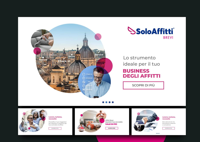 Sito web - Portfolio - Be Comunicazioni - Pubblicità e Marketing - SoloAffitti Brevi - slide 01